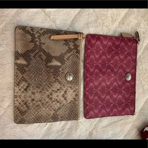 Two Coach Pouches.Great as a clutch or store items